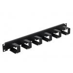 """Triton 19"""" vyvazovací panel 1U 6x háček 70x27mm black kov, RAB-VP-X23-A1"""
