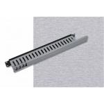 """Triton Vyvazovací panel 1U 19"""" jednostranná plastová lišta šedo-černá, RAB-VP-X02-A1"""