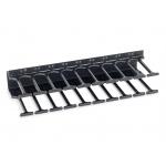 Triton Vyvazovací panel 10U - Hřeben, RAL9005, RAB-VP-H10-X1