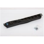 "Triton 19"" 8xCZ zásuvka,bleskojistka,3x1.5mm 2m RAL9005, RAB-PD-X07-A1"