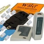 Oem UTP tester+kleště UNI+stripovač narážeč+10xRJ45, 502717562