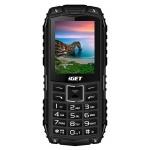 iGET Defender D10 Black - odolný telefon IP68, DualSIM, 2500 mAh, BT, powerbanka, svítilna, FM, MP3, D10 Black