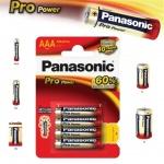 Alkalická baterie AAA Panasonic Pro Power LR03 4ks, 09738