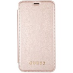 Guess Iridescent Book Pouzdro Rose Gold  iPhone X, 3700740407844
