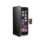 Pouzdro typu kniha Wallet pro iPhone 6, černé, WALLY700