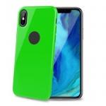 TPU pouzdro CELLY iPhone XS Max, limetkové, GELSKIN999LG