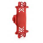 "BONE držák na kolo pro mobil 4-6"", Bike Tie PRO - Red, BK17001-R"