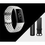 Fitbit Charge 3 Special Edition (NFC) - Graphite / White Silicone, FB410GMWT-EU