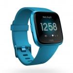 Fitbit Versa Lite - Marina Blue/Marina Blue Aluminum, FB415BUBU