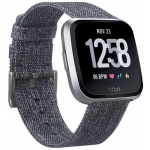 Fitbit Versa Lite - Charcoal/Silver Aluminum, FB415SRGY