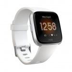 Fitbit Versa Lite - White/Silver Aluminum, FB415SRWT