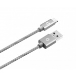 ALIGATOR PREMIUM Datový kabel 2A, USB-C šedý 1m, DATKP08