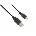 4World Kabel USB 2.0 AM-BM mini 5P 1.8m Black, 06132