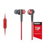 SONY sluchátka MDR-XB50AP, handsfree, červené, MDRXB50APR.CE7