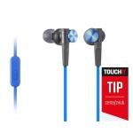 SONY sluchátka MDR-XB50AP, handsfree, modré, MDRXB50APL.CE7
