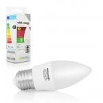 WE LED žárovka SMD2835 C37 E27 3W studená bílá, 10212