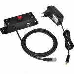 Virtuos tlačítko pro otevírání pokladních zásuvek Virtuos 12V, kovové s kabelem, EVA0009