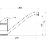Dřezová baterie Titania Lux chrom 90091,0