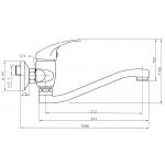 Dřezová umyvadlová baterie 100 mm Titania Iris chrom 92074,0