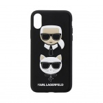 KLHCPXKICKC Karl Lagerfeld Karl and Choupette Hard Case Black pro iPhone X / XS, 2436739