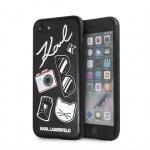 KLHCI8PIN Karl Lagerfeld Pins Hard Case Black pro iPhone 7/8/SE2020, 2439207