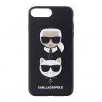 KLHCI8LKICKC Karl Lagerfeld Karl and Choupette Hard Case Black pro iPhone 7/8 Plus, 2439758