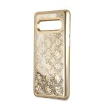 GUHCS10PEOLGO Guess Glitter 4G Peony Zadní Kryt Gold pro Samsung G973 Galaxy S10, 2446125