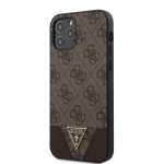 GUHCP12MPU4GHBR Guess 4G Triangle Zadní Kryt pro iPhone 12/12 Pro 6.1 Brown, 2453497
