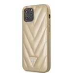 GUHCP12MPUVQTMLBE Guess V Quilted Zadní Kryt pro iPhone 12/12 Pro 6.1 Gold, 2453503