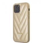 GUHCP12LPUVQTMLBE Guess V Quilted Zadní Kryt pro iPhone 12 Pro Max 6.7 Gold, 2453504
