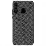 Nillkin Synthetic Fiber Ochranný Zadní Kryt Plaid Black pro Huawei P30 Lite, 2445679