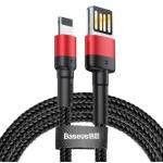 Baseus CALKLF-G91 Cafule Kabel USB to Lightning Double Sided 2.4A 1m Red/Black, 57983104549