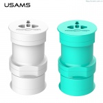 USAMS Multi Socket Universal Dobíjecí Adapter Cyan (EU Blister), 29392
