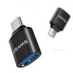 USAMS SJ175 Adapter Type C/USB Black (EU Blister), 2437253