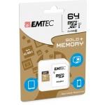 microSDHC 64GB Emtec UHS-I U1 Elite Gold (EU Blister), 2441142