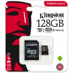 microSDXC 128GB Kingston Class 10 w/a  (EU Blister), 2442089