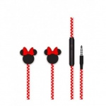 Disney Stereo Sluchátka 3.5mm Minnie Matt Red 3D, 2443441