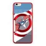 MARVEL Captain America 013 Zadní Kryt pro iPhone 6/6S Plus Red, 2445176