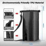 OUTXE IPX7 100% Voděodolný TPU 5L Batoh Black (EU Blister), 2447297