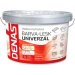 DENAS UNIVERZÁL-LESK vrchní barva na dřevo, kov a beton, 0199 černá, 5 kg