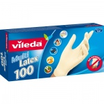 Vileda Multi Latex rukavice S/M, 100 ks