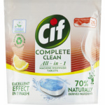 Cif Complete Clean All in 1 Lemon tablety do myčky, 26 ks