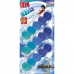 Dr. Devil WC Bicolor 5ball polar aqua závěsný WC blok, 3 × 35 g