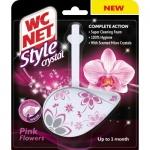 WC NET Style Crystal Pink Flowers WC závěs, 36,5 g