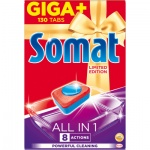Somat All In 1 Lemon tablety do myčky, 130 ks