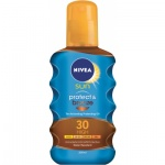 Nivea Sun Protect & bronze OF 30 olej na opalování podporující zhnědnutí, 200 ml
