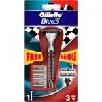Gillette Blue3 holicí strojek + náhradní hlavice 4 ks