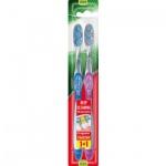 Colgate Twister zubní kartáček, středně měkký, balení 1+1