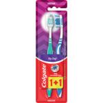 Colgate ZigZag zubní kartáček, střední měkký, balení 1+1