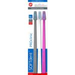 SOFTdent PROclinic zubní kartáček, měkký, balení 3 ks